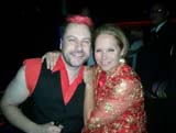 Katie Couric and Me after a Rubix Kube Show